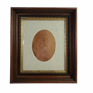 """Vintage Solid Wood Picture Frame Golden Inlay with Glass 14 x 16"""""""